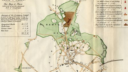 A 19th century map of the Heath by Rogers Field.
