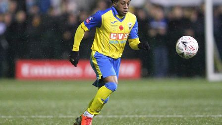Michael Ademiluyi of Haringey Borough (pic: George Phillipou/TGS Photo).