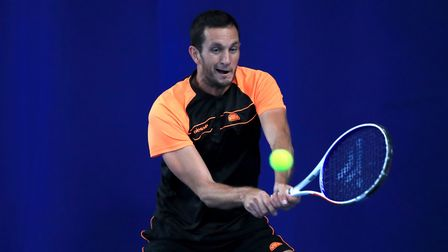 James Ward in action at the Nature Valley Open at Nottingham Tennis Centre (pic Simon Cooper/PA)