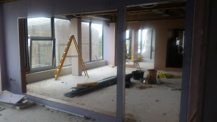 The new offices for Lowestoft Town Council are under construction. Picture: Conor Matchett