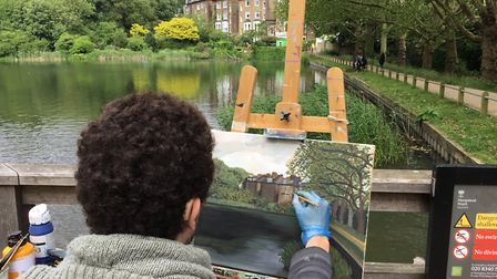 Tedi Lena takes part in the 2019 Picture the Heath competition with entries exhibited on Sunday June