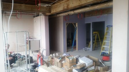 Where the cafe/open space will be in Lowestoft Town Council's new office. Picture: Conor Matchett