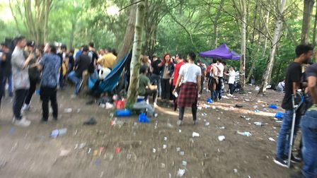 Scores of party-goers turned up to a rave in Wick Woodland, the weekend before the council's PSPO ca