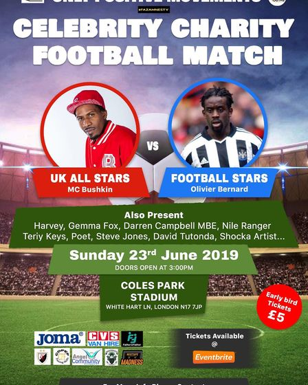 Haringey Borough are hosting a charity football match