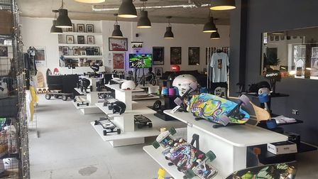 The e-skate shop Wick Boards before it was ram raided and its stock cleared out