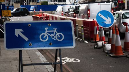 Traffic at Old Street roundabout. Picture: Joshua Thurston