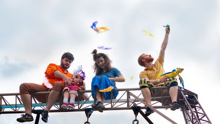 Jackson Lane presents Look Up performed by members of the Hikapee Theatre Company at Highgate Fair i