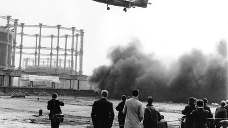 Coal dust everywhere as Squadron Leader Tom Lecky-Thompson launched from St Pancras. Picture: Tangme