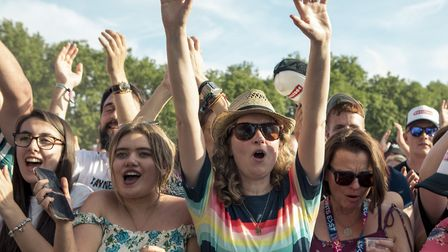 Crowds at All Points East on Saturday, June 1. Photo: Rory James.