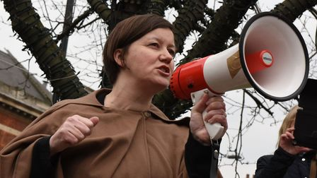 Hackney South and Shoreditch MP Meg Hillier holding forth in 2016 about tenants' rights. Picture: Ke