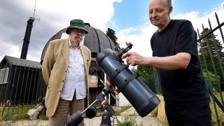 Doug Daniels and Simon Lang, joint astronomy secretaries of the Hampstead Scientific Society, with o