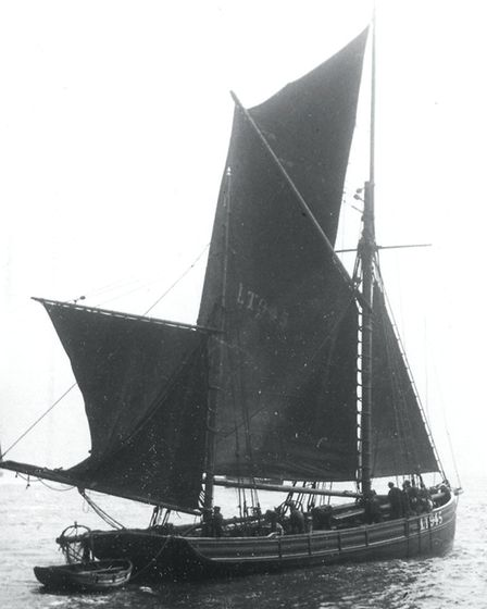The Boy Jack LT945 fishing vessel. Three crew members drowned when the U-Boat UB.40 dived on seeing