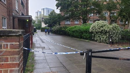 Ainsworth House, where a 20 year-old man was killed in St John's Wood. Picture: Harry Taylor