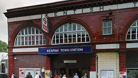 A man was allegedly pushed in front of a train at Kentish Town Station (Pic: Google)
