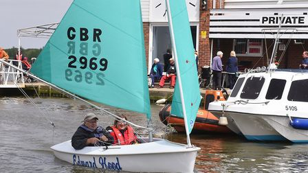 Waveney Sailability charity are presented with two new boats from the Edward and Ivy Rose Hood Memor
