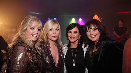 Melanie Blake with The Nolans who she helped to reunite for a top selling tour