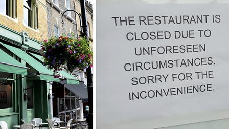 """Cafe Hampstead in Hampstead - shut for """"unforeseen circumstances"""". Picture: Polly Hancock/Harry Tayl"""