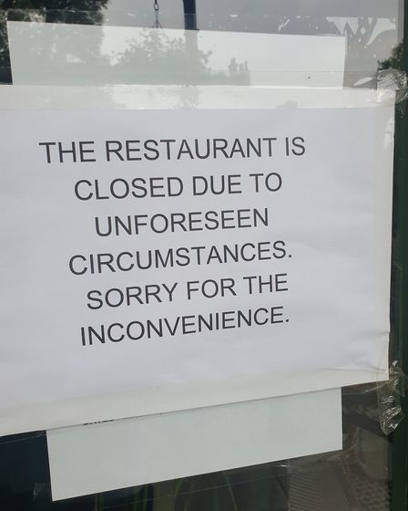 """Cafe Hampstead is closed """"due to unforeseen circumstances"""". Picture: Harry Taylor"""