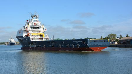 The Seacosco Yangtze which is docked in Lowestoft. Picture: Seacor Marine