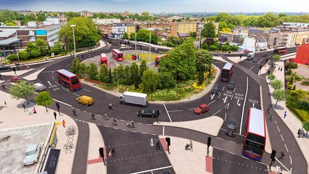 An artist's impression of Lea Bridge Roundabout. Picture: High Level Photography