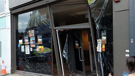 Starbucks in Crouch End Broadway, which had a car crash into it on Saturday night. Picture: Luke Caw