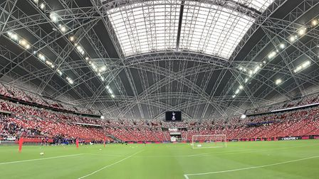 A general view of the National Stadium, Singapore, where Manchester United will face Tottenham Hotsp