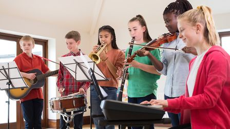There are many benefits of learning to play an instrument at a young age. Picture: Getty Images