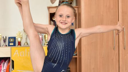 Gymnast Aaliyah Manning from Reydon. Picture: Sonya Duncan