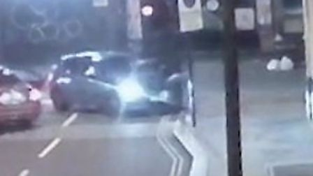 The BMW police are looking for after shots in Camden High Street. Picture: Met Police