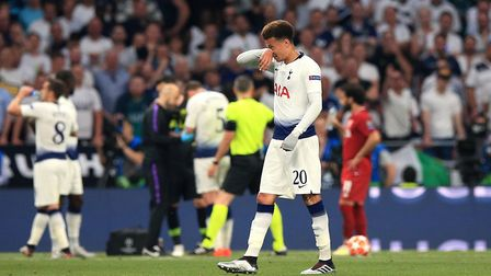 Tottenham Hotspur's Dele Alli during the Champions League Final against Liverpool at Wanda Metropoli