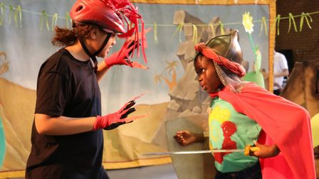 George fights the dragon in the sequel to Immediate Theatre's George and the Dragon show. Picture: L