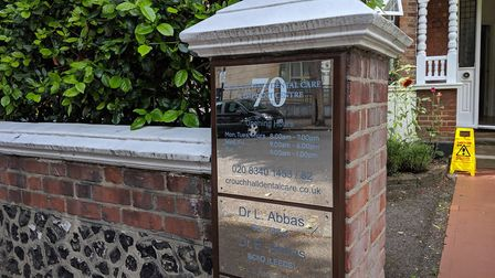 Crouch Hall Dental Surgery in Crouch Hall Road. Picture: Sam Volpe
