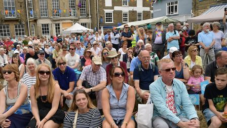 Crowds gather for the Southwold Arts Festival parade last year. Picture: Ian Lomas