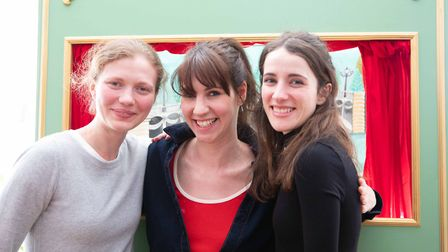 Three of the people involved with Zina Drouche's previous puppet shows. Natalia Baryshovets, who pla