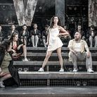 Samantha Pauly (centre) in Evita. Picture: Marc Brenner.