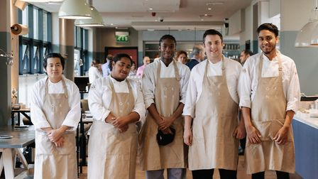 Culinary students at OKN1. Picture: Alex Merz
