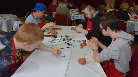 JumpstART students exploring the human body in Lowestoft. Picture:Suffolk Artlink