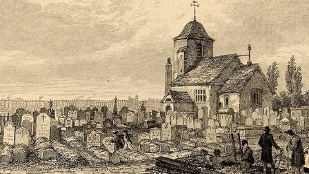 St Pancras Old Church had bodysnatchers in A Tale of Two Cities. Picture: Camden Local Studies and A