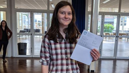Alice Monaghan from Camden School for Girls is off to Cambridge to study medicine. Picture: Sam Volp