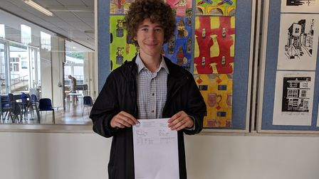 Jacob Freedland bagged two A*s and an A at Camden School for Girls and has a jam-packed gap year pla