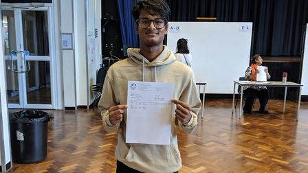 Akbar Hussain, 18, got A* and three As at Camden School for Girls and is heading to Edinburgh Univer
