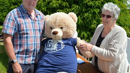 The teddy bear parachuting bonanza at St Mary the Virgin Church in Blundeston. Pictures: Mick Howes