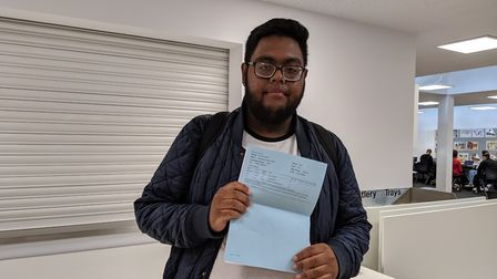 Ollie Mohammed, who earned a double distinction grade in his applied science course and is now headi