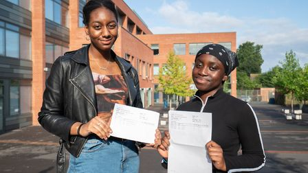 Our Lady's students Evita Remy-Benn, (left) will go to Central Saint Martin's to study art and desig