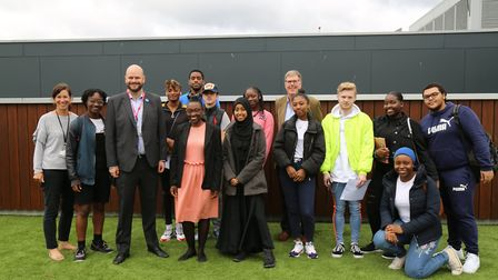 Urswick School pupils were joined by the Mayor of Hackney and Deputy Mayor as they picked up their A