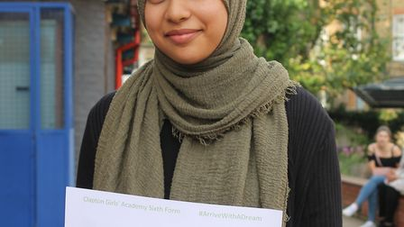 Zainab Mulla achieved two A*s and an A and will go on to do an accounting degree apprenticeship.