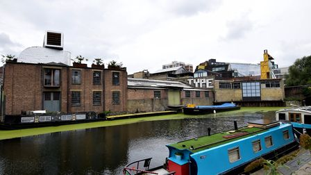 The view of 53-55 Laburnum Street from the other side of the Regent's Canal. Picture: Polly Hancock.