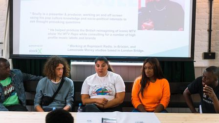 Music Industry guests speak at a Q and A session about their experiences: Presenter and producer Scu