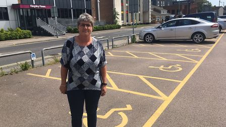 Joanne O'Neill at Clapham Road car park. Photo: James Carr.