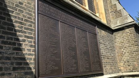 St Matthias Church in Stoke Newington has benefited from a grant of £3,000 from the War Memorials Tr